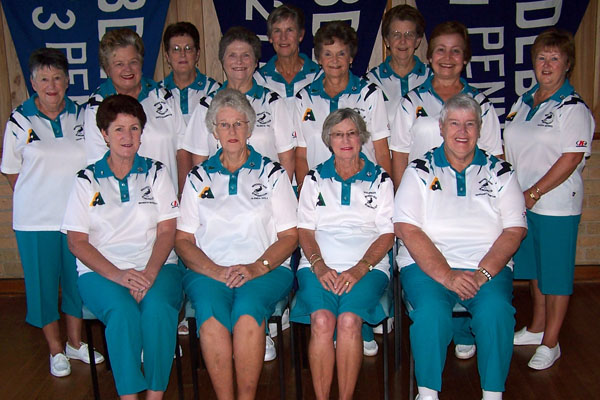 Bendigo East Ladies Bowls Team in Domino Strath Teal, dyed to the club's specific requirement.