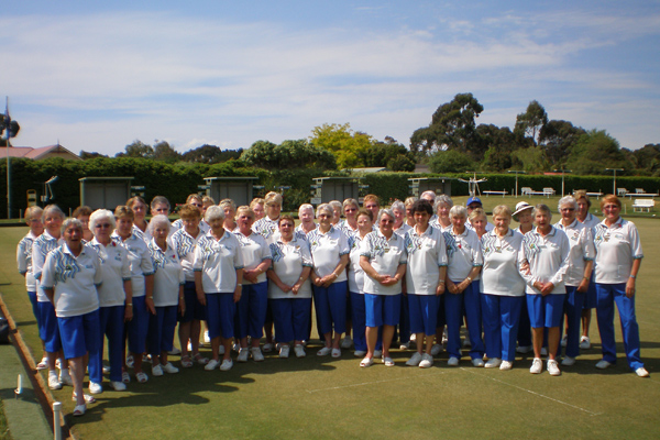 Rosebud Lawn Bowls Club wearing Domino Cobalt. domino - the top bowls wear manufacturer and supplier