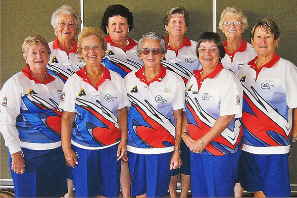 Tuncurry Women's Bowling Club wearing Domino Royal Gaberdine
